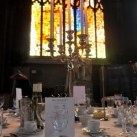 Dinner Setting in the Cathedral